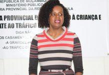 Amabélia Chuquela, Procuradora - geral adjunta da República visitou Nampula e mostrou-se preocupada com o recrudescimento do rapto de albino