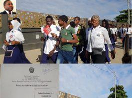 Filipe Nyusi chega a Nampula e nada funciona. Alunos sao obrigados a percorrer longas distancias para receber o PR