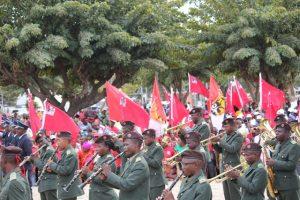 Os membros cantaram o nome de Filipe Nyusi, apelaram ao voto para as eleicoes de 15 de Outubro