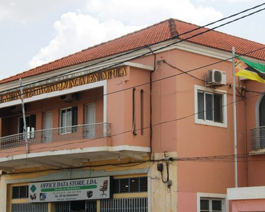 edificio do tribunal administrativo de Nampula onde o juiz presidente esta sendo acusado de estar a promover intigras na instituicao